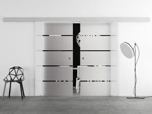 развдижные двери стекло 2 Мебельвей